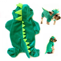 Puppy Dinosaur Hoodie Pet Dog Costume Clothes Coat Sweater [8384307015]