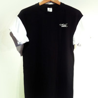 CUT&SEW COLOR BLOCK SLEEVES / WHITE