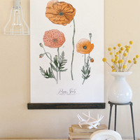 Vintage Inspired Science Posters - POPPY STUDY VOL 1