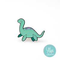 Loch Ness Enamel Pin - Soft Enamel Pin Cloisonné Nessie Lapel Pin Loch Ness Monster Pin Badge Loch Ness Kawaii Pin Loch Ness Brooch