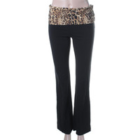 Guess Womens Bootcut Fold-Over Yoga Pants