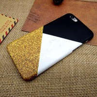 Gold Marble Stone iPhone 7 7 Plus & iPhone 5s se & iPhone 6 6s Plus Case Personal Tailor Cover + Gift Box-170928