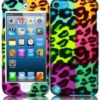 For Apple Ipod Touch 5 5th Generation Hard Design Cover Case Bright Colorful Leopard Accessory