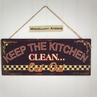 Kitchen Sign / Kitchen Decor / Kitchen Art / Eat Sign / Signage / Brown Decor / Home Decor / Gifts For Mom / Gifts Under 20