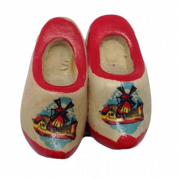 Wooden Shoes Magnet Gift