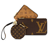 Louis Vuitton LV Bag Bag Monogram Leather Round Wallet Purse Handbag Three Piece Suit Crossbody Bag