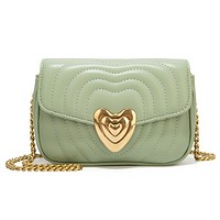 Fashion New  Leather Shopping Leisure Chain Shopping Leisure Shoulder Bag Crossbody Bag Green