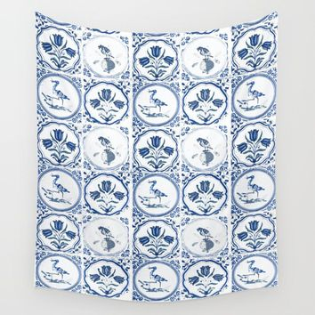 On the Tiles Wall Tapestry by anipani