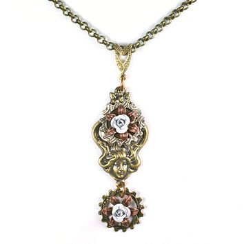 Handmade Victorian Goddess Emma Woodhouse Pendant Necklace