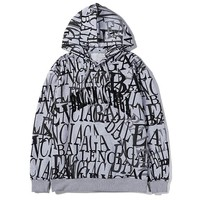 Balenciaga autumn and winter new graffiti printed LOGO hooded jacket