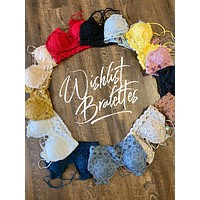 Scalloped Lace Wishlist Bralette (Choose Your Color)