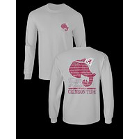 Sale Sassy Frass University of Alabama Crimson Tide Tradition & Pride Long Sleeve Girlie Bright T Shirt