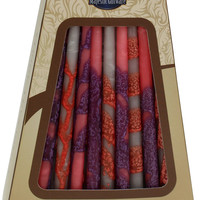 """Lamp Lighters Ultimate Judaica Safed Chanukah Candles - 45 Pack -Pink/Grey/Blue - 6"""""""