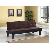 """Cheap Furniture - 66"""" X 29"""" X 28"""" Chocolate Flannel Fabric Upholstery Adjustable Couch"""