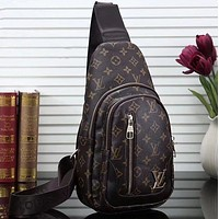 LV Louis Vuitton Woman Men Fashion Leather Crossbody Single Shoulder Bag-2