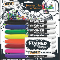 Stained By Sharpie Multi Fabric Markers, 8-Pack