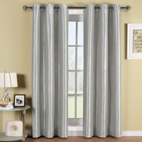 Soho Silver Grommet Blackout Window Curtain Panel