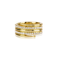 Pave Coil Ring - Antique Gold