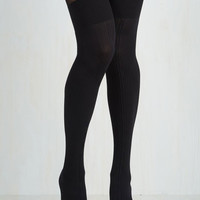 Rockabilly Cable Manners Tights Size OS by Pretty Polly from ModCloth