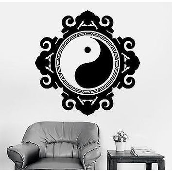 Wall Sticker Buddha Yin Yang Symbol Mandala Meditation Vinyl Decal Unique Gift (z2895)