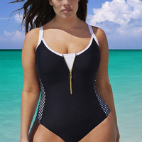 bikini 2016 unique  design  fashion sexy  one-piece suits patchwork   summer  beach  plus size  Swimwear ladies