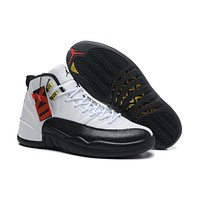 Air Jordan 12 Retro XII AJ12 Black/White Basketball Shoes Size US5.5-13