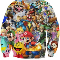 Super Smash Bros Brawl Crewneck Sweatshirt
