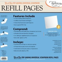 CR Gibson  Tapestry STK12-3464 Scrapbook Refill Pages, 12 by 12-Inch