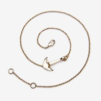 MINI-ANCHOR CHAIN BRACELET, 10K-GOLD - SOLID GOLD | MIANSAI