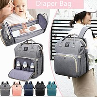 Diaper Bag Backpack with Changing Bed, Diaper Bag, Sleeping Bassinet