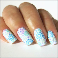 Nail Wraps Full Flower Nail Decal Wraps 18 Water Slide Decals Nail Decal Nail Art Tattoos