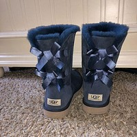 UGG hot sale fashion mid-tube snow boots velvet casual ladies wool boots