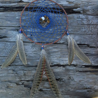 Bohemian Full Moon Dream Catcher with Tree of Life