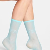 Women's Betsey Johnson 'I Do' Sheer Socks