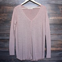 project social t - maria longsleeve v neck seamed sweatshirt