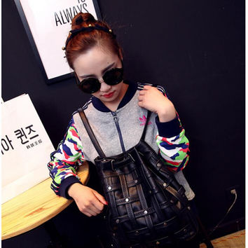 New Women Fashion Daily Backpack Punk style  PU Woven retro Backpacks For Girls Cute Bags