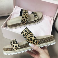 Double Play Disco Leopard Sandal