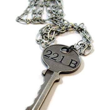 The Key to 221B: A Sherlock Inspired Necklace