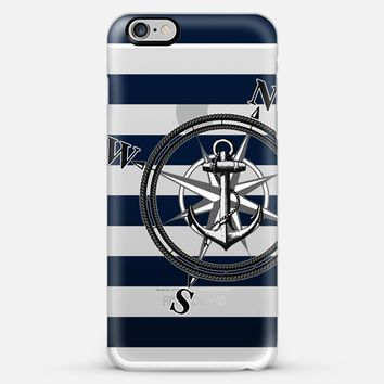 Navy Striped Nautica - Transparent iPhone 6 Plus case by Nicklas Gustafsson   Casetify