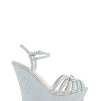 Strappy Bow Lucky Caged Wedges