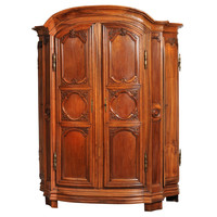 Large Closet in Walnut Richly Ornamented