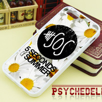 5SOS Sun Flowers for iPhone 4/4s/5/5s/5c - iPod 4/5 - Samsung Galaxy s3 i9300/ s4 i9500 and etc - Black/White
