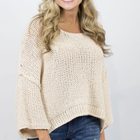 Free People Halo Pullover/Sand