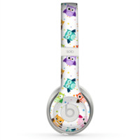 The Cartoon Emotional Owls with Polkadots Skin for the Beats by Dre Solo 2 Headphones