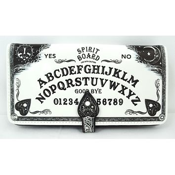Spirit Board Ouija Board 3D Embossed White Wallet Wiccan Gothic Gift