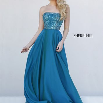 Sherri Hill 1966 Strapless A-Line Gown
