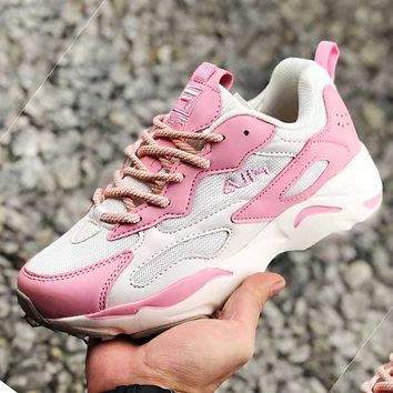 FILA Women Sports Shoes Sneakers Contrast Shoes Pink