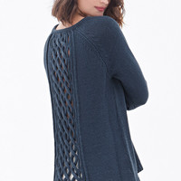 Braided Cutout-Back Sweater