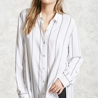 Oversized Striped Dolphin Shirt