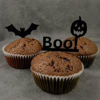 Halloween Cupcake Toppers, set of three laser cut toppers, Halloween Party